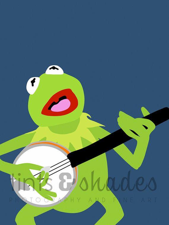 Kermit the Frog Minimalist Poster by TintsShadesFineArt on Etsy