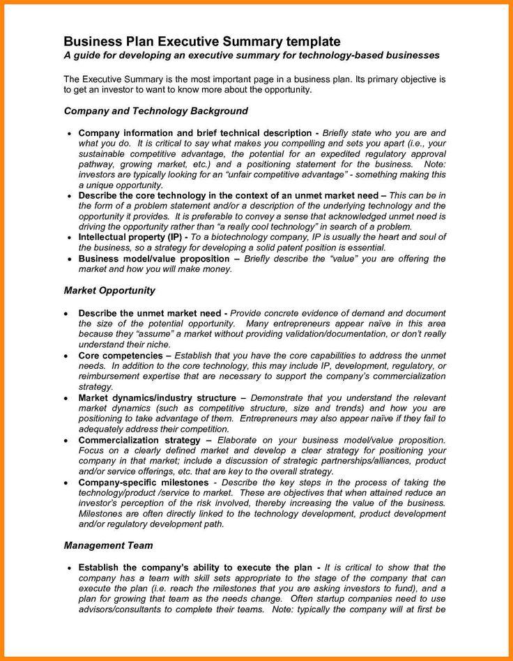 10+ executive summary business plan | nurse resumed