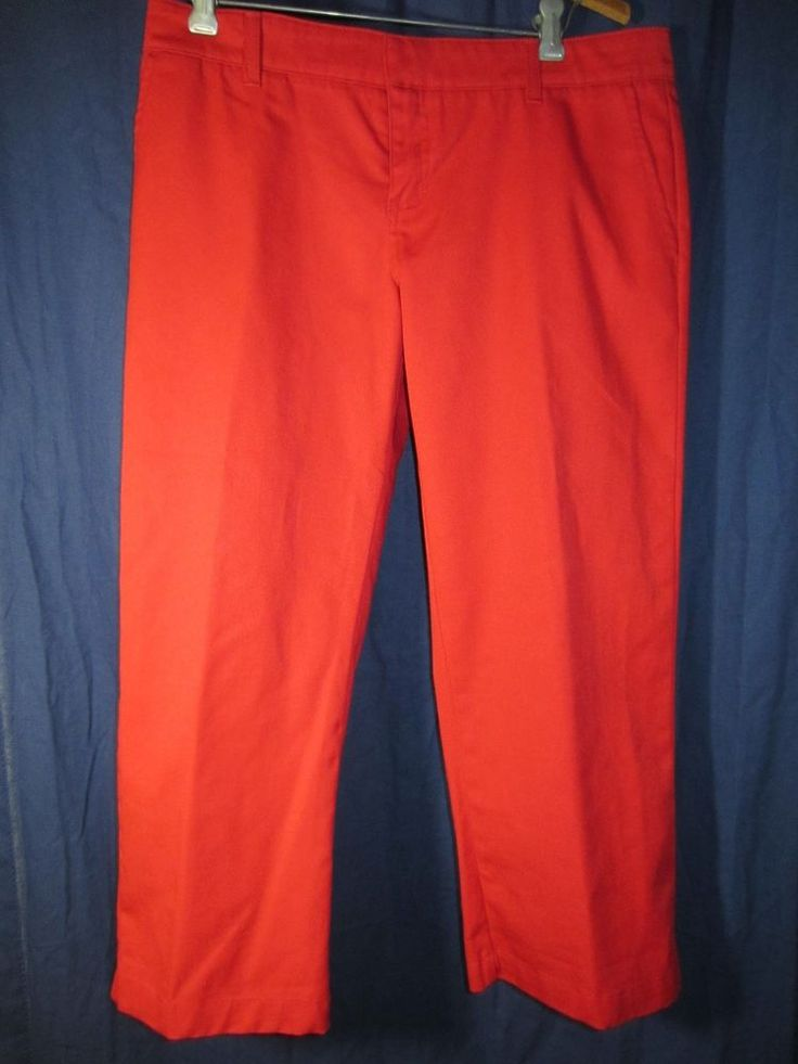"Hurley size 7 Red Capris Juniors poly/cotton 23"" inseam AWESOME back to school #Hurley #CaprisCropped"