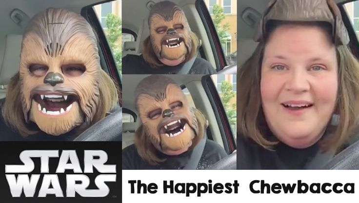 Candace Payne's Chewbacca mask video has become a viral hit on Facebook. Candace laughs hysterically as she unboxed a Chewbacca mask and recorded on video for Facebook Live with caption: It's the simple joys in life... As she mentioned on the vid...
