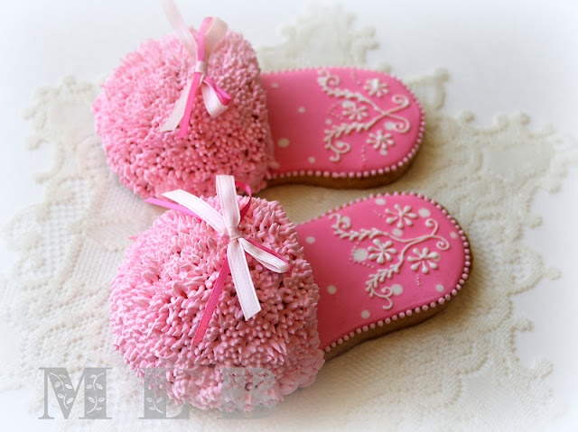 My little bakery :): Slipper Cookies...in 3D...