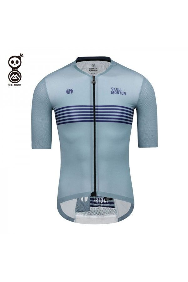 Blue Cycling Jersey Mens In 2020 Cycling Outfit Cycling Jersey