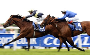 Nathaniel winning Sandown Park's Group 1 Coral-Eclipse.