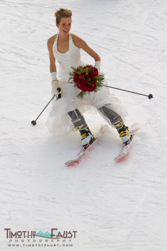 Ski wedding at Copper Mountain Resort, Colorado