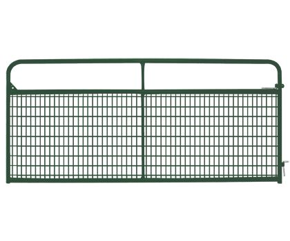 This powder-coated gate is the logical choice for use anywhere field fence wire is used, such as enclosures for small livestock or other non-crowding areas.