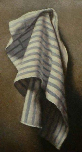 Toalha de Riscas Azuis - Pintura de John Folchi
