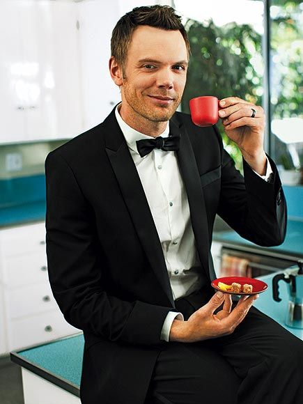 One of People's sexiest: Joel McHale. It's the teacup, I think.