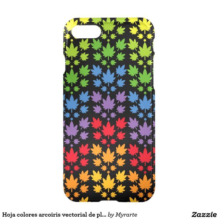 Hoja colores arcoiris vectorial de planta. Plant. Producto disponible en tienda Zazzle. Tecnología. Product available in Zazzle store. Technology. Regalos, Gifts. Link to product: http://www.zazzle.com/hoja_colores_arcoiris_vectorial_de_planta_plant_iphone_7_case-256230106630187742?CMPN=shareicon&lang=en&social=true&rf=238167879144476949 #carcasas #cases #marihuana #cannabis