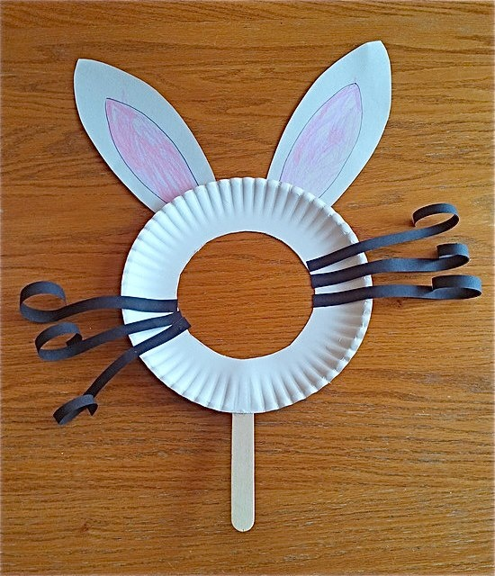 Cute Bunny Mask. Can't take credit for it. Found it posted on facebook from Durham Region Daycare's Website! They shared it from Early Childhood Educator's Rock