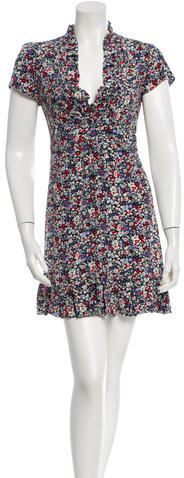Please click on the picture to go to the detail page.  Maje Floral Print Silk Dress w/ Tags