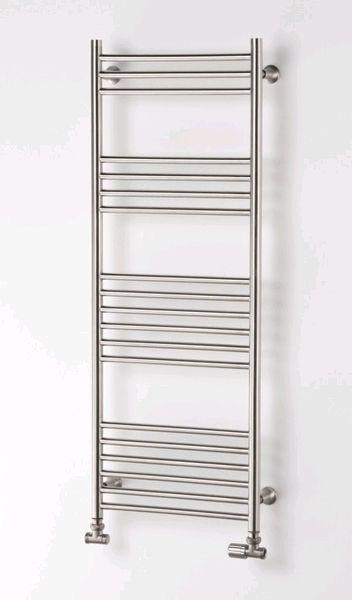 Nora Robuuste rvs badkamer radiatoren, strak design verwarming zuiver en degelijk. 293 tot 810 WATT