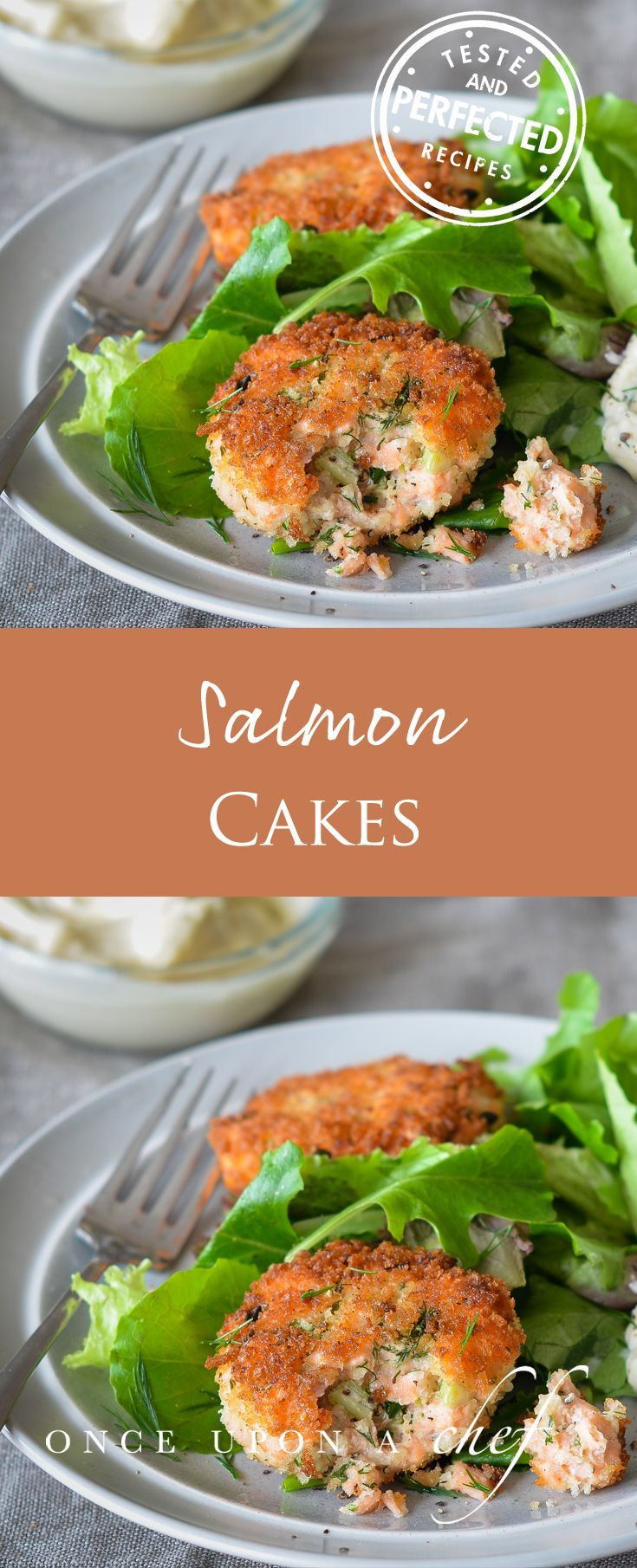 Made from fresh raw salmon and seasoned with Old Bay (naturally…I'm a proud Marylander), they're as elegant as crab cakes but much more affordable to make. Quick enough to throw them together on a busy weeknight or serve them to company. Bonus, you can even make ahead. Eat them atop a green salad with a dollop of tartar sauce, or alongside rice pilaf and a vegetable.