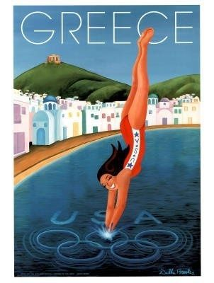 Greece: vintage poster #beach #poster #essenzadiriviera