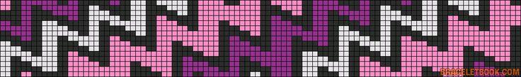 Alpha Friendship Bracelet Pattern #13169 - BraceletBook.com
