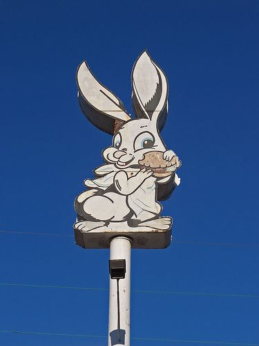 """OH Akron - Rabbit- From """"Bunny Drive-in"""" on Copley Road 1960's. Begged to go there all the time"""