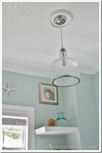 I want to do this on my back porch! Love the bead board ceiling instead of our drop ceiling S! Pin It