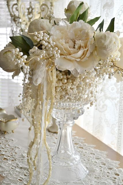 Best ideas about pearl centerpiece on pinterest lace