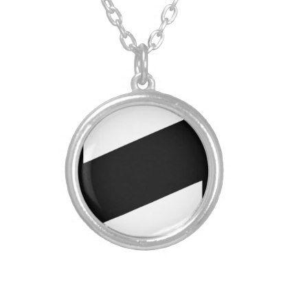Barber Shop Pole Silver Plated Necklace - accessories accessory gift idea stylish unique custom
