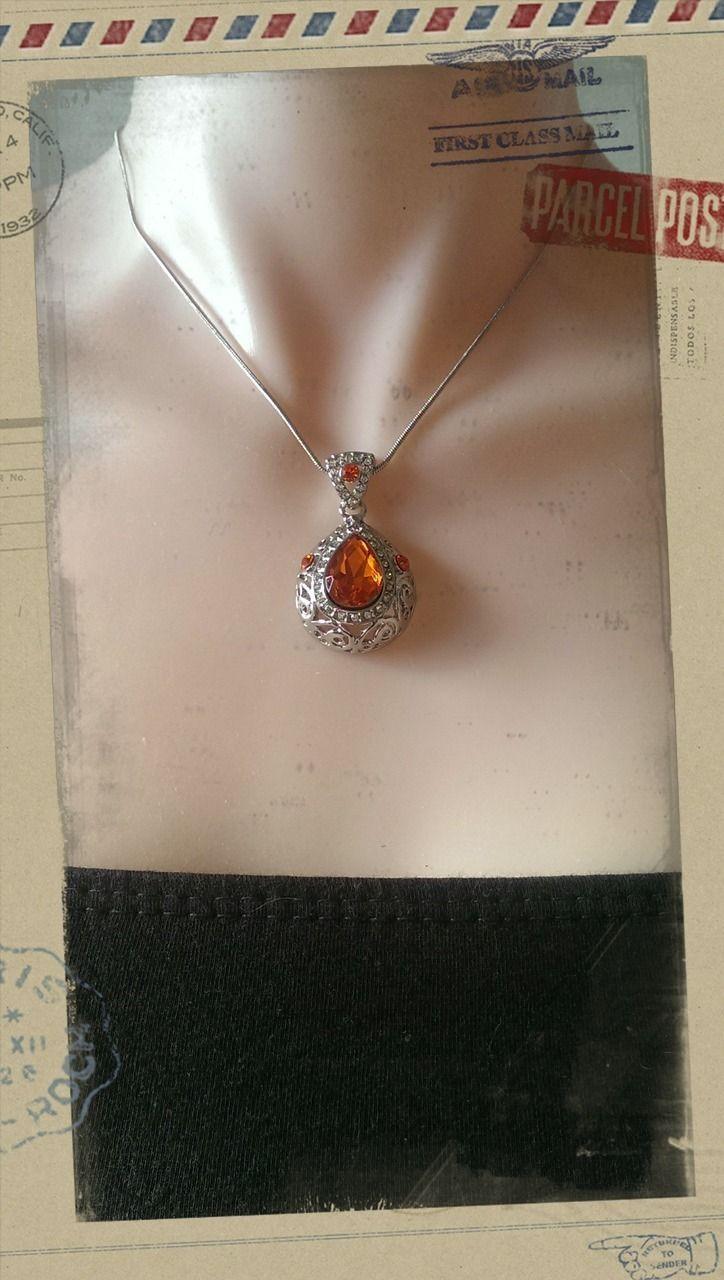 Popsie Ltd - Sweet Heart Water Drop Pendant Necklace - Fired Orange, $20.27 (http://www.popsie.co.nz/sweet-heart-water-drop-pendant-necklace-fired-orange/)