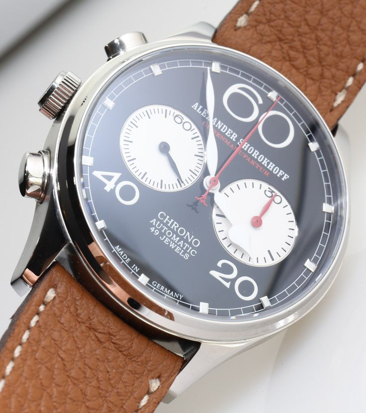 ABlogToWatch Alexander Shorokhoff Avantgarde Lefthanders Automatic Chronograph Watch Review