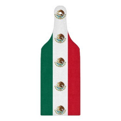 Glass cutting board paddle with flag of Mexico - kitchen gifts diy ideas decor special unique individual customized