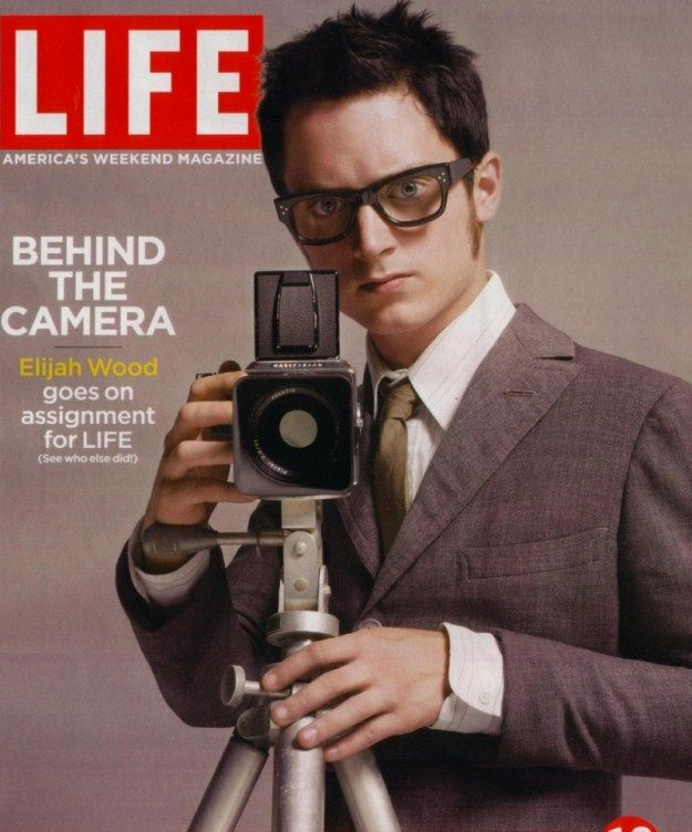 Elijah Wood with Hasselblad camera.