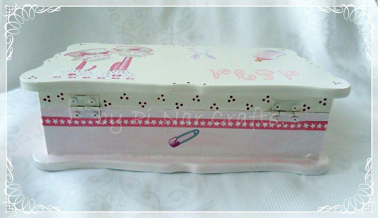 woodpainting box for babies. ahşap boyama bebek kutusu