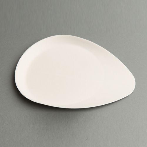"""Assiettes en canne à sucre """"pure"""" 25 cm x 19 cm x 2 cm blanc """"Sucadrops""""   Assiettes et bols en canne à sucre   PAPSTAR ECO """"PURE"""" - vaisselle à usage unique en matière renouvelable   Vaisselle jetable"""