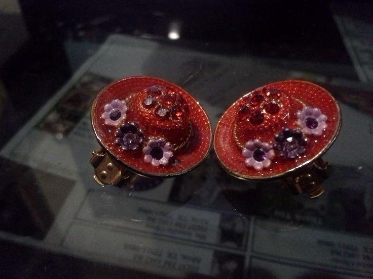 FREE red hat earrings listia