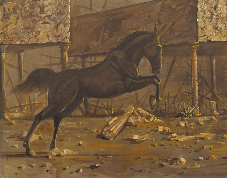 FineArtSeen - The Finale III by Serhiy Roy. This original fine art painting of a horse is full of detail and comes from the collection on FineArtSeen. Click to view more art at great prices from the Home Of Original Art. << Pin For Later >>