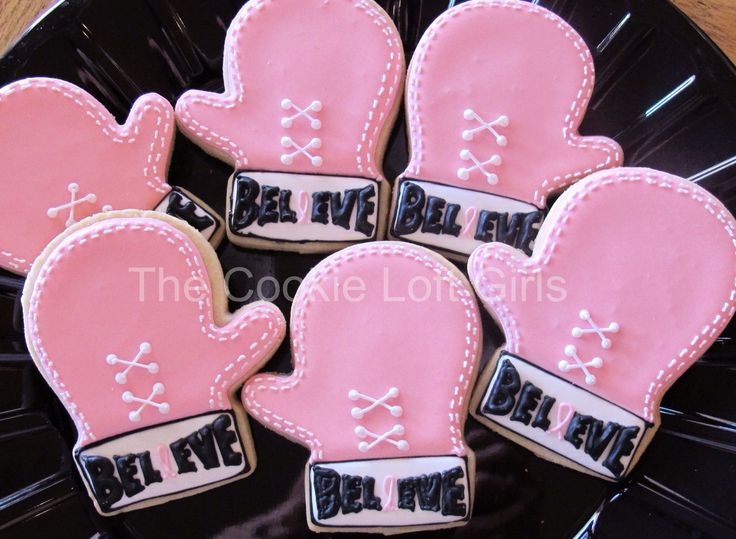 Breast Cancer Awareness boxing glove cookies from www.facebook.com/thecookieloftgirls. Visit our Facebook page to see more of our creations!