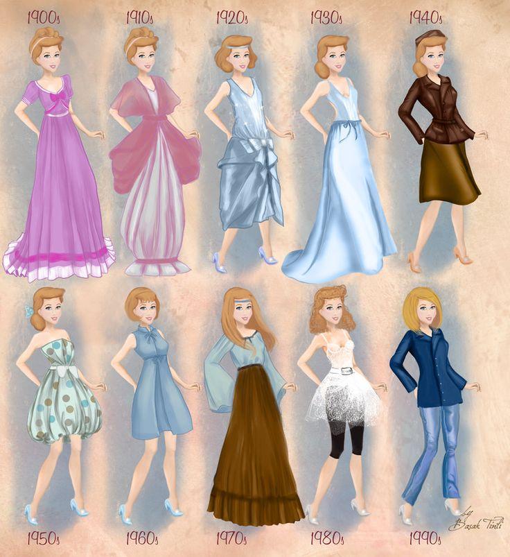 Cinderella in 20th century fashion by BasakTinli