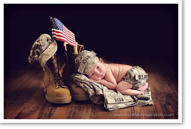Newborn military photo. Too precious. #madeintheusa @hadakishop #usainspiration
