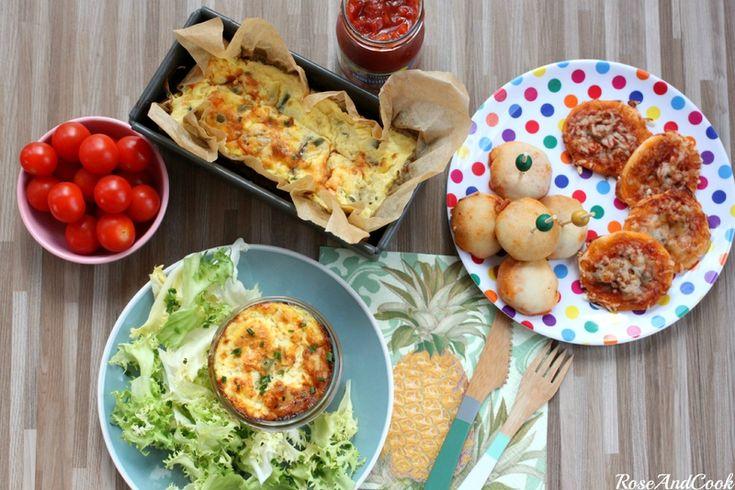 Un menu d'été à moins de 4€ /pers {pizza balls, pain de poisson, crème glacée aux marrons}