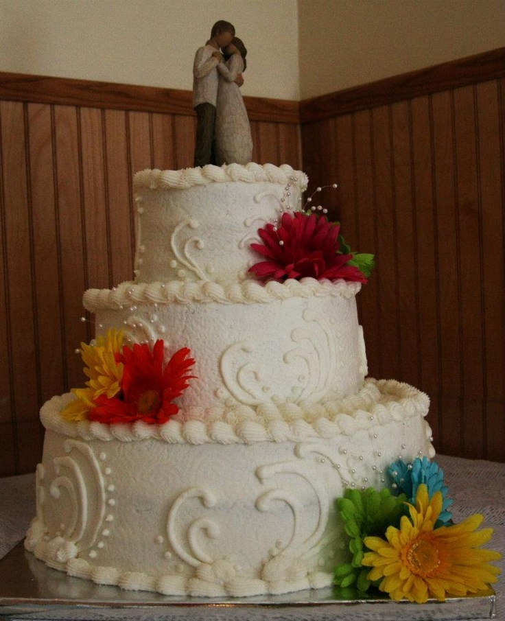 """Our wedding cake with willow tree """"promise"""""""