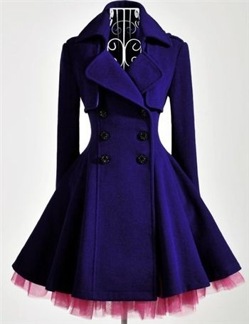 Omg coat dress add tulle DIY from thrift store coat! Love!