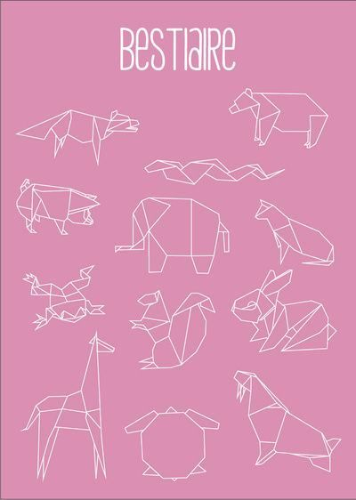 origami animals washitape