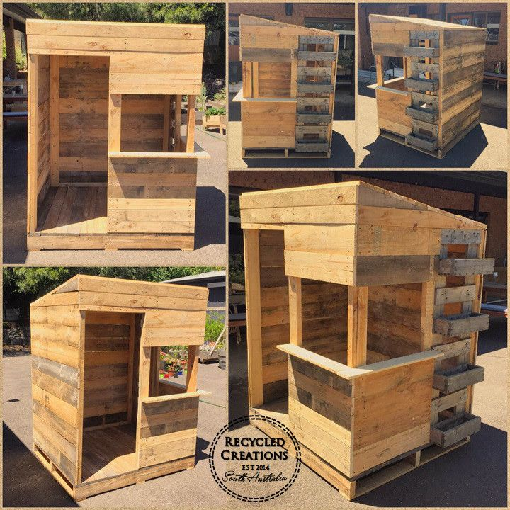 Pallet cubby house with inbuilt planter | Recycled Creations South Australia |
