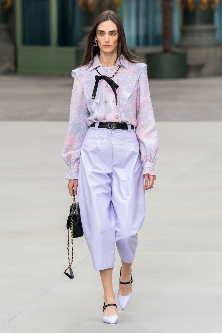 Mar 31, 2020 – Chanel Resort 2020 Collection – Vogue | #chanel #newcollection #lilac #lavender #style #shopping #styles …
