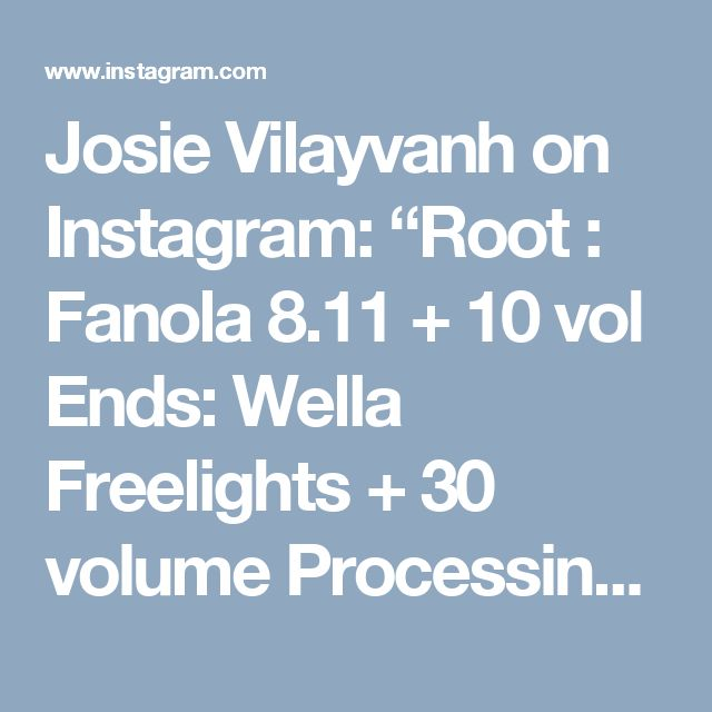 "Josie Vilayvanh on Instagram: ""Root : Fanola 8.11 + 10 vol Ends:  Wella Freelights + 30 volume Processing time 45 mins  Toned :Fanola 9.1 + 9.13 10 volume """