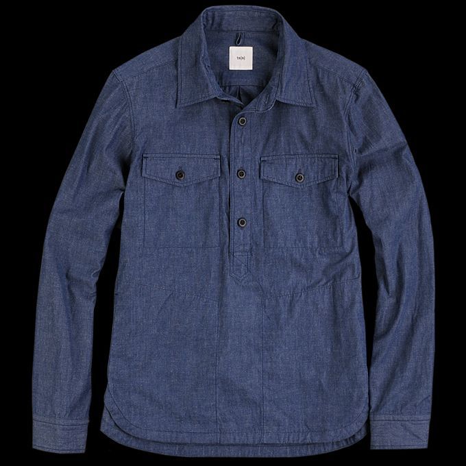 UNIONMADE - ts(s) - Double Pocket Pullover Shirt Jacket in Navy ...