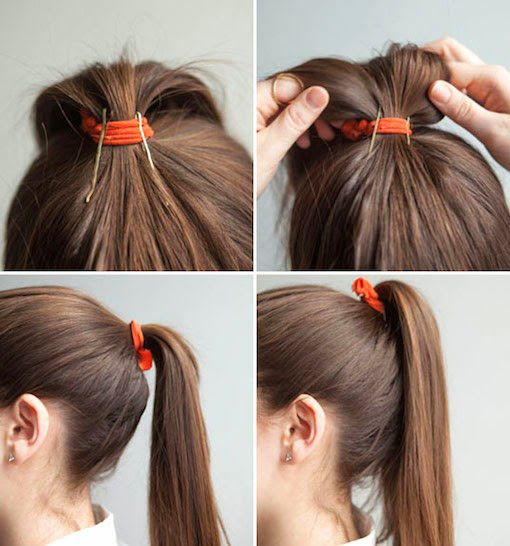 I may have found the solution to almost a half of my terrible ponytail problems!