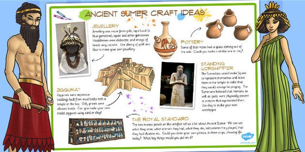 ancient sumer craft ideas