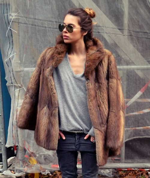 Best 25  Brown fur coat ideas on Pinterest | Brown faux fur coat ...