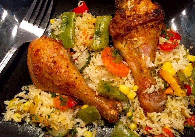 Zapiekanka ryżowo-warzywna z kurczakiem - Blog z apetytem