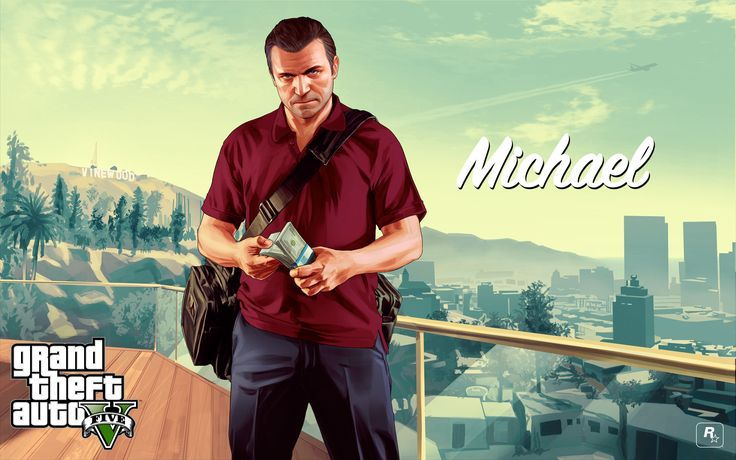GTA 5 character - Michael 2880x1800 wallpaper