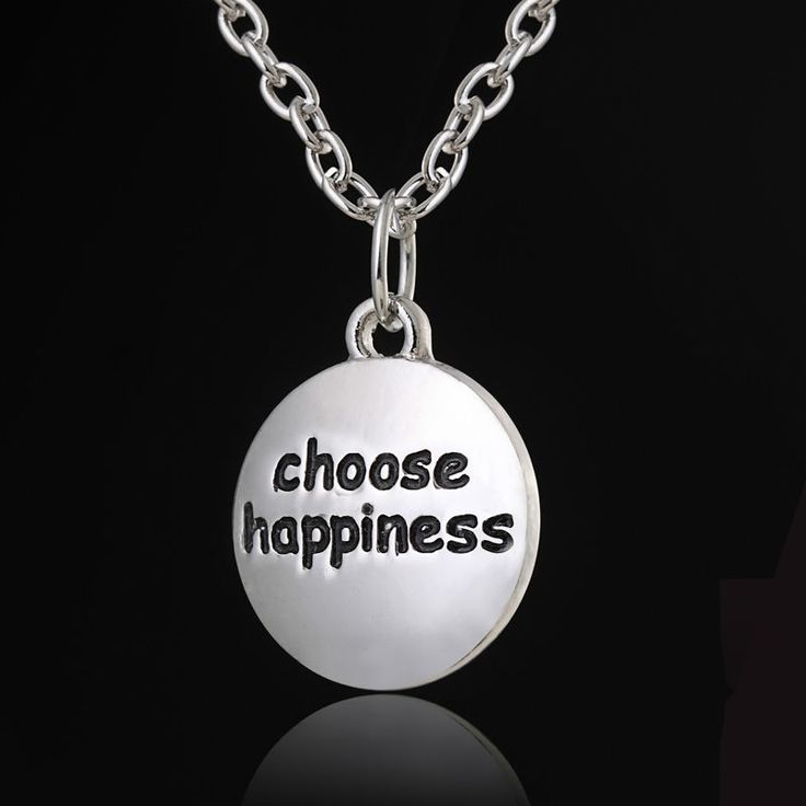Выбрать счастье вдохновить слова продаж старинные щепка простой сеть шарм подвеска ожерелье женщин лучший подарок
