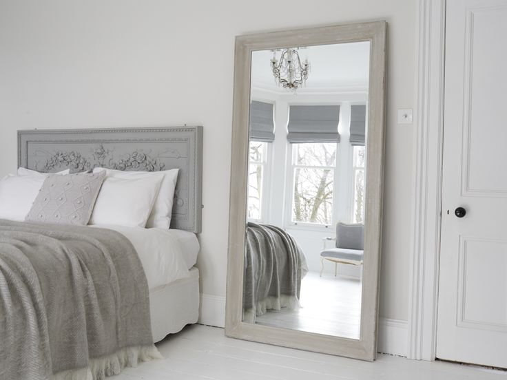 An Exquisite Large Grey Mirror Decadent And Over Sized With Bevelled Edges