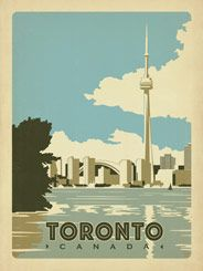 Toronto, Canada - Our latest series of classic travel poster art is called the WorldTravel Poster Collection. We were inspired by vintage travel prints from the Golden Age of Poster Design (a glorious period spanning the late-1800s to the mid-1900s.) So we set out to create a collection of brand new international prints with a bold and adventurous feel.