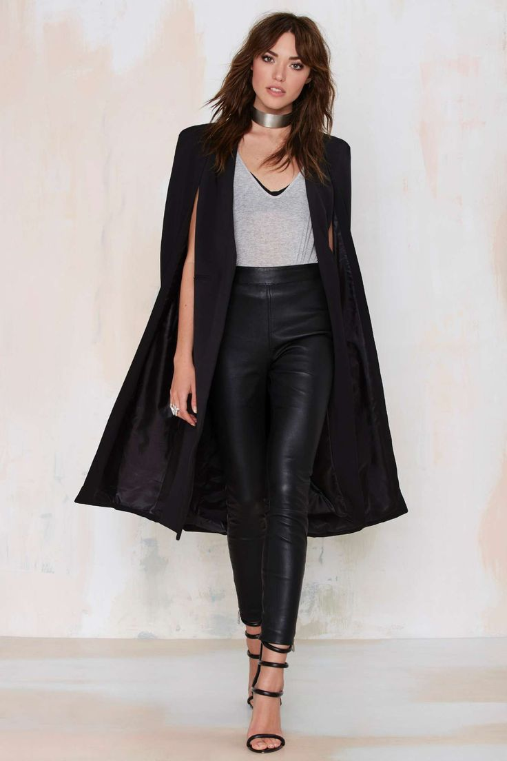17 Best ideas about Cape Jacket on Pinterest | Black cape Capes